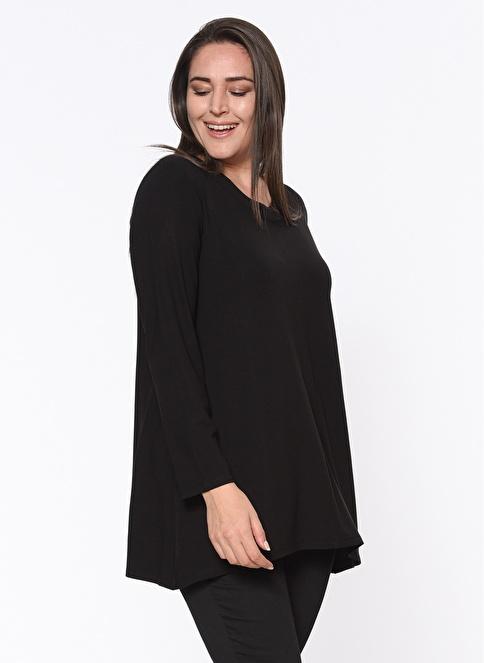 Butik Triko Uzun Kollu Bluz Siyah
